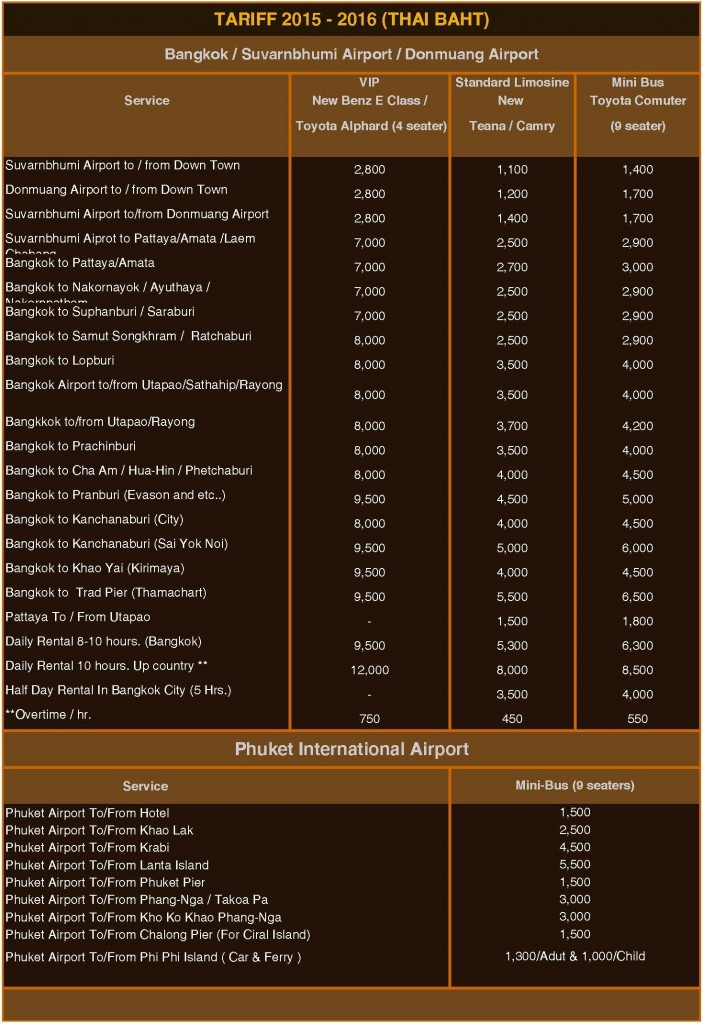 Copy of Transportation Prices list
